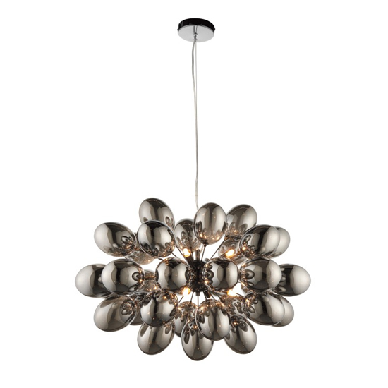 Infinity Wall Hung 8 Pendant Light In Black Chrome
