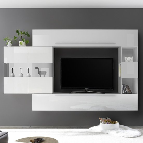 Infra Entertainment Unit In White High Gloss