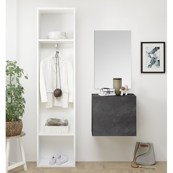 Infra Bathroom Furniture Set In White And Oxide