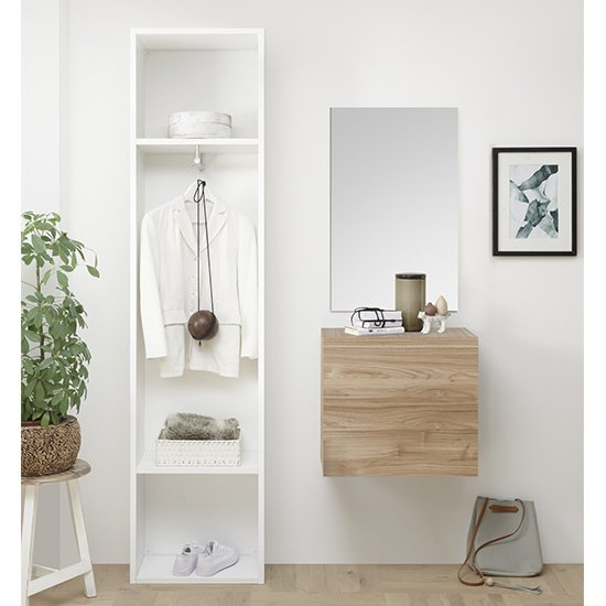 Infra Bathroom Furniture Set In White And Stelvio Walnut