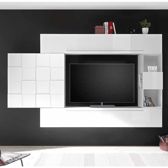 Infra Large Entertainment Unit In White High Gloss