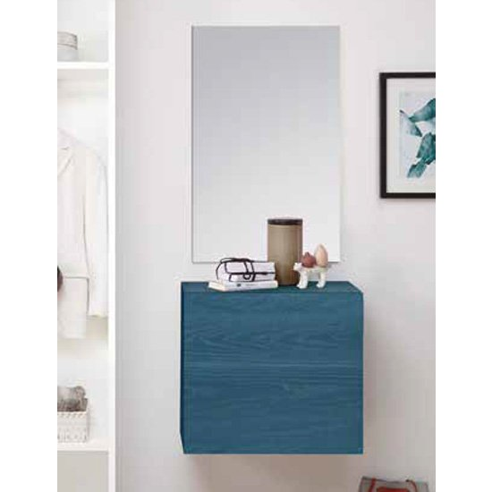 Infra Wooden Bathroom Furniture Set In Blue