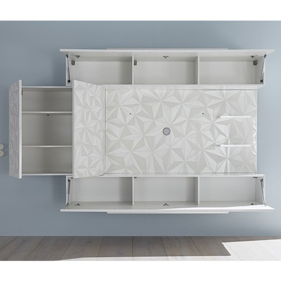 Infra Large Entertainment Unit In Serigraphed White High Gloss_5