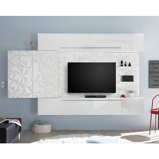 Infra Large Entertainment Unit In Serigraphed White High Gloss_1