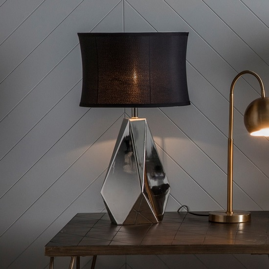Inkerman Table Lamp With Black Shade