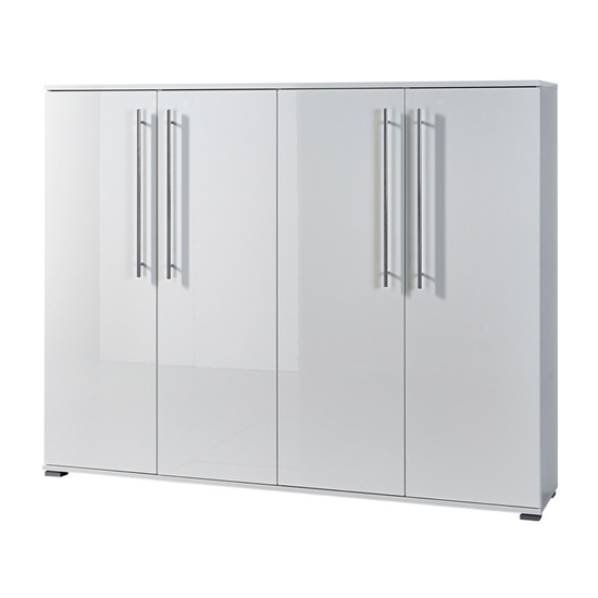Inside Shoe Storage Cabinet In White High Gloss