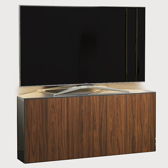 Intel Corner LED TV Stand In Grey Gloss And Walnut_2