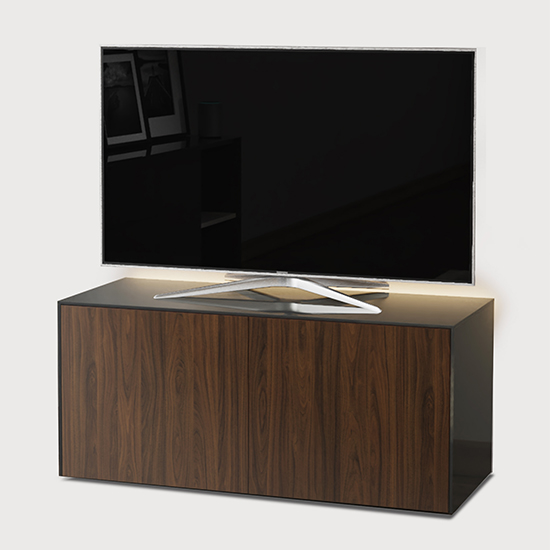 Intel LED TV Stand In Grey And Walnut With Wireless Charging_2