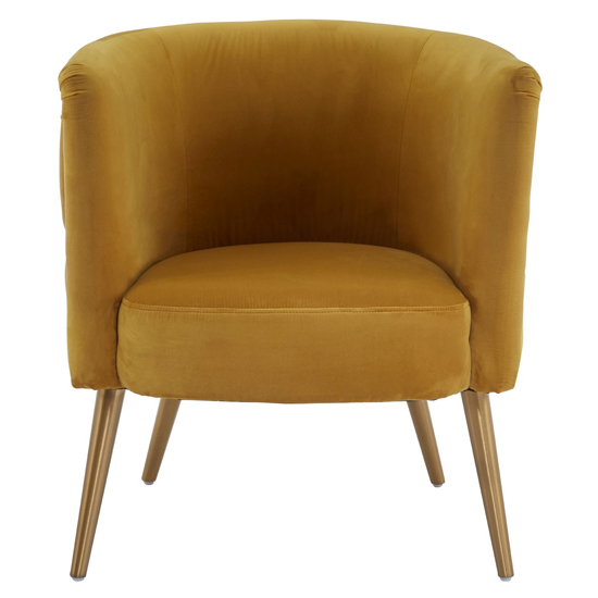 Intercrus Fabric Upholstered Tub Chair In Yellow_2