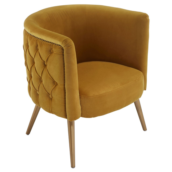 Intercrus Fabric Upholstered Tub Chair In Yellow_3