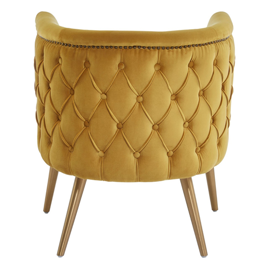 Intercrus Fabric Upholstered Tub Chair In Yellow_4