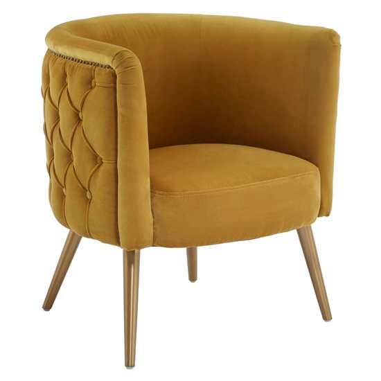 Intercrus Fabric Upholstered Tub Chair In Yellow_1