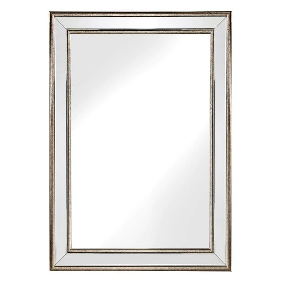 Isabella Wall Mirror Rectangular In Bronzed Effect