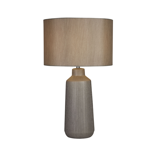 Isla Silver Ceramic Touch Table Lamp