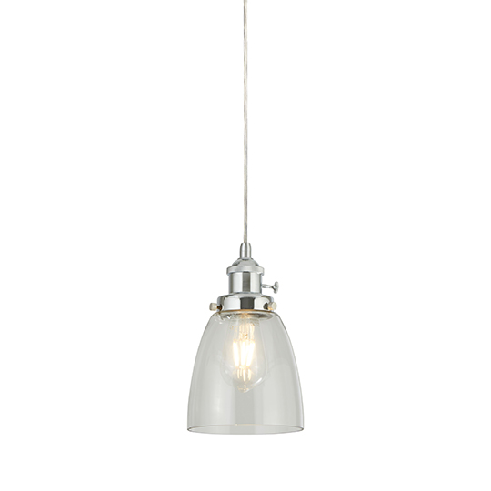 Island 1 Light Pendant Ceiling Light With Clear Glass