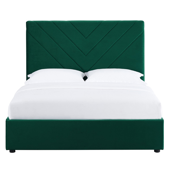 Islington Double Fabric Bed In Forest Green_3