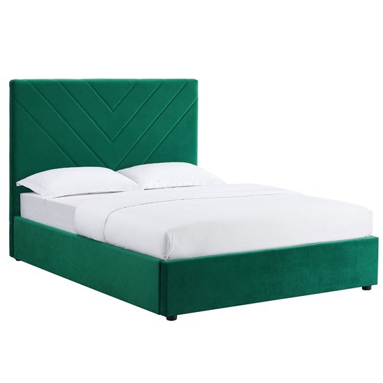 Islington Double Fabric Bed In Forest Green_2