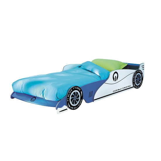 Italic Boys Childrens Car Bed In Blue 28528 Furniture In