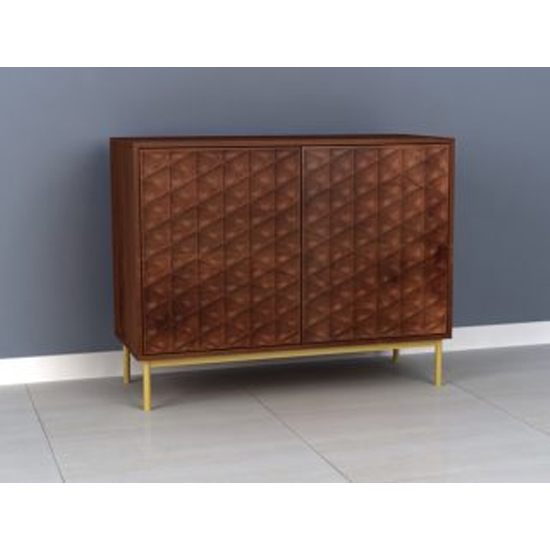 Ivoran Sideboard In Rich Walnut With 2 Doors