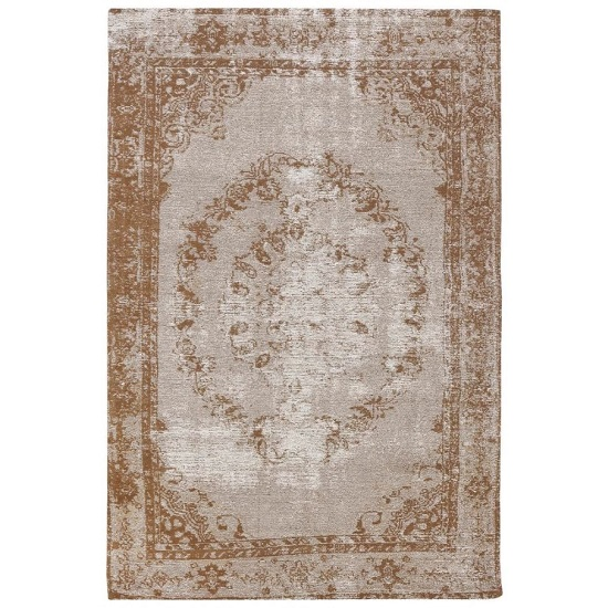 Jacquard Woven Beige And Brown Rug_1