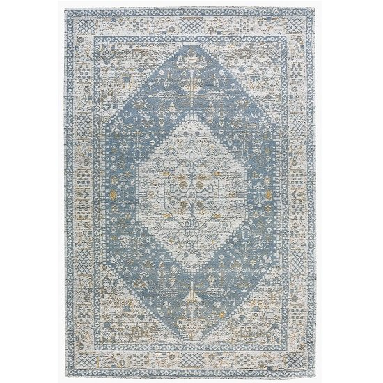 Jacquard Woven Beige And Grey Rug