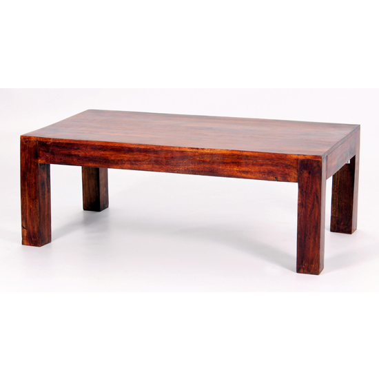 Jaipur Wooden Coffee Table In Walnut_1
