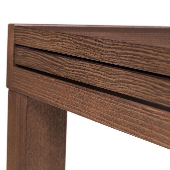 Jakey Wooden Extending Dining Table In Walnut Effect_4