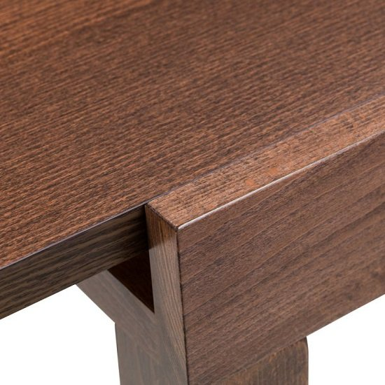 Jakey Wooden Extending Dining Table In Walnut Effect_7