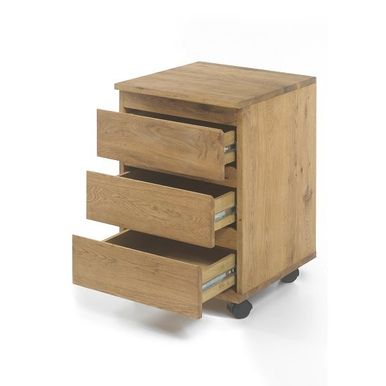 Knotty White Oak Cabinets: Janet Home Office Cabinet In Knotty Oak With Castors