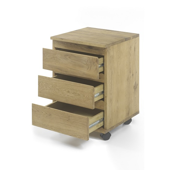Knotted Oak Kitchen Cabinets: Janet Home Office Cabinet In Knotty Oak With Castors