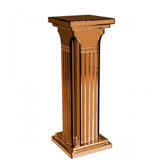 Preston Mirrored Column Pedestal Tall In Bronze