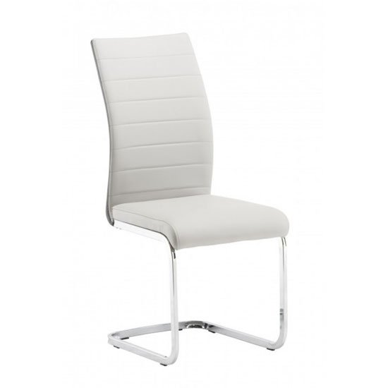Jasper Faux Leather Dining Chair In Grey And Light Grey