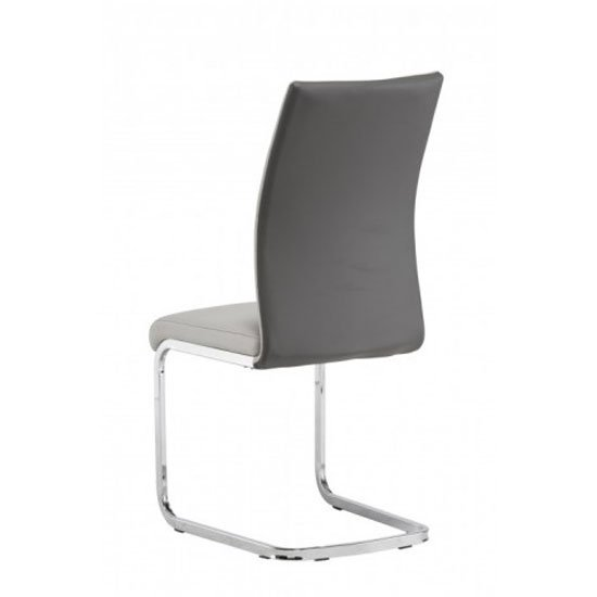 Jasper Grey And Light Grey Faux Leather Dining Chair In A Pair_2