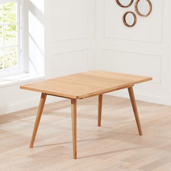 Javelin Wooden Extendable Dining Table In Solid Oak