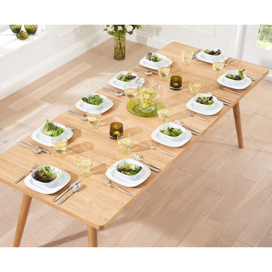 Javelin Wooden Large Extendable Dining Table In Solid Oak_6