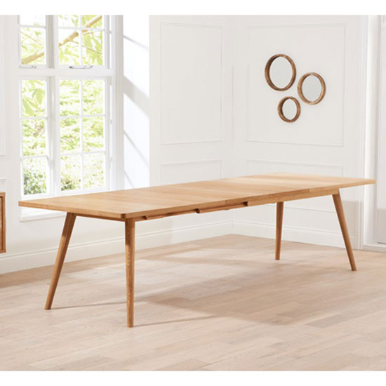 Javelin Wooden Large Extendable Dining Table In Solid Oak_2