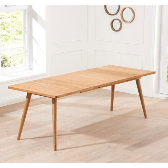 Javelin Wooden Large Extendable Dining Table In Solid Oak_3