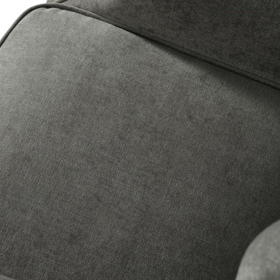 Jaxon Sofa Chair In Grey Fabric With Wooden Legs_4