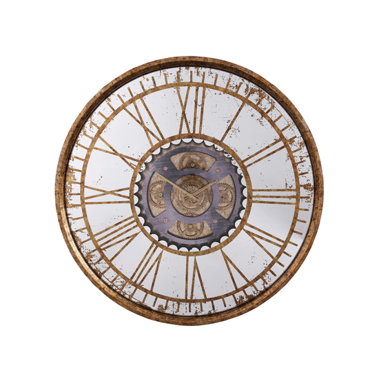 Jayden Wall Clock In Antique Brass_1
