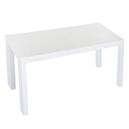 Jayden Dining Table Rectangular In Matt White With 4 Chairs_2