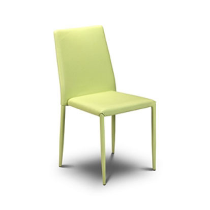 Jazz Stacking Green Leather Chair