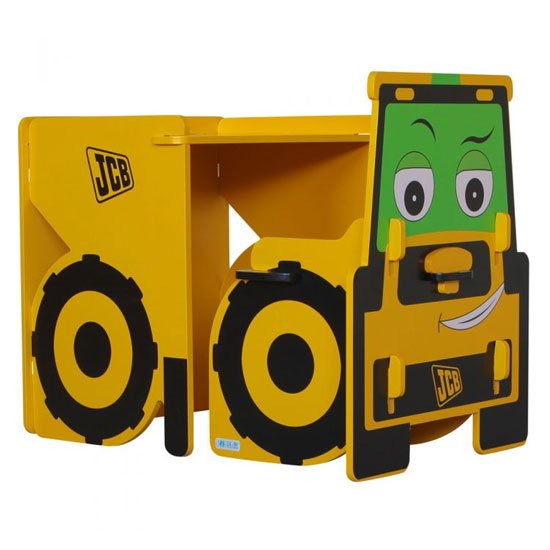 JCB Kids Desk With Chair In Yellow_1
