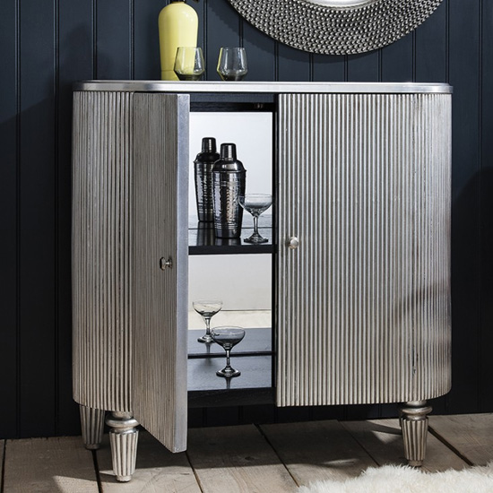 Jeeves Wooden Drinks Cabinet In Silver_2
