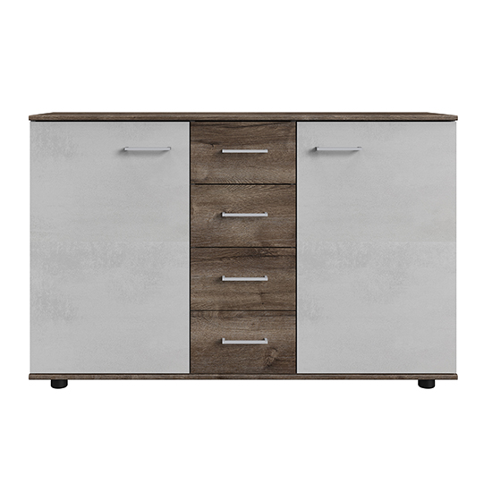 Jenny Large Wooden Sideboard In Muddy Oak And Light Grey