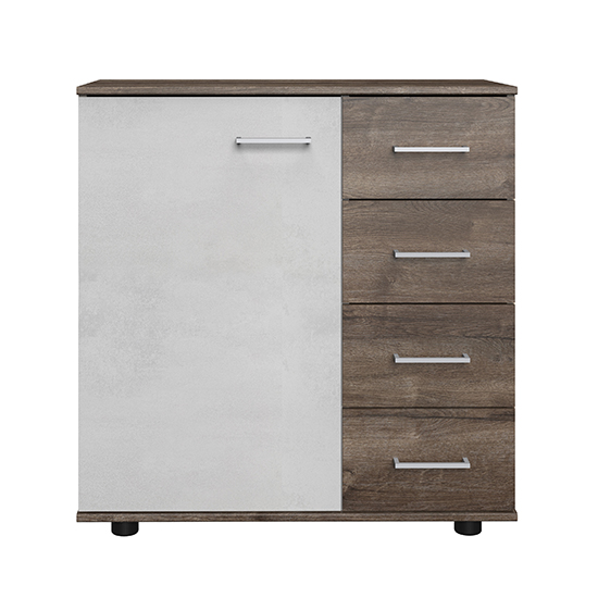Jenny Wooden Sideboard In Muddy Oak And Light Grey_1