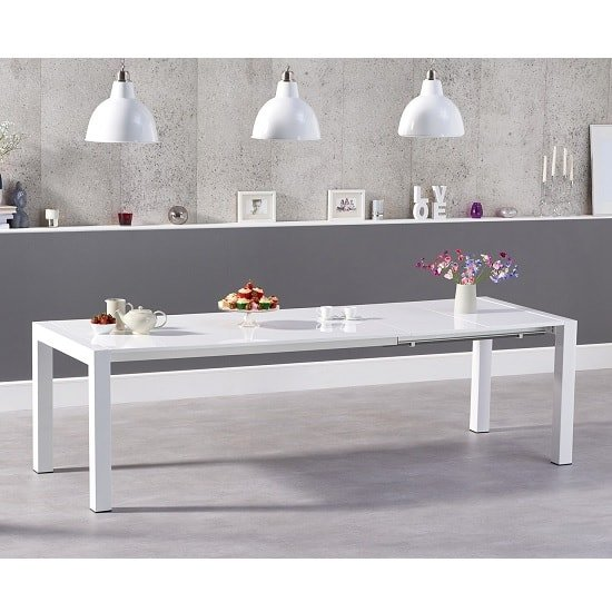 Jensen Extendable Dining Table In White High Gloss_3