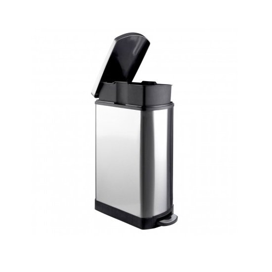 Jerry Stainless Steel Pedal Bin In Rectangle_2