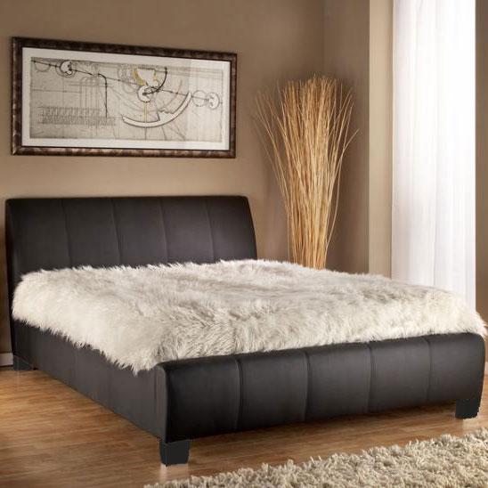 Read more about Jesmond matt black faux leather beds