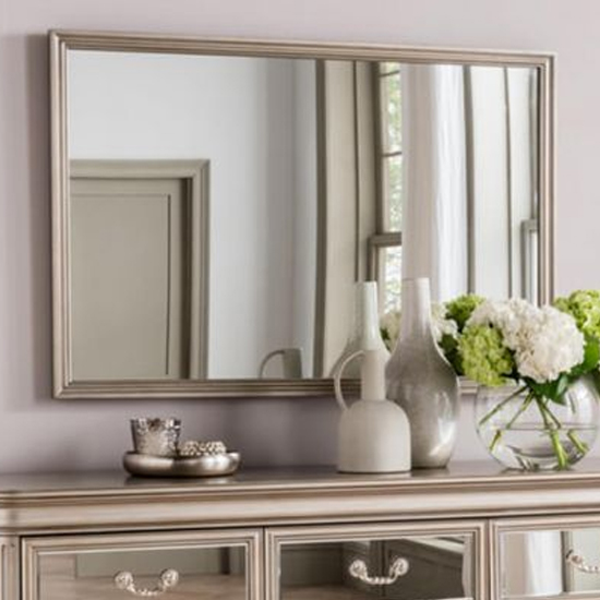 Jessica Large Wall Bedroom Mirror In Taupe