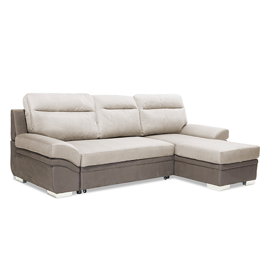 Jessica Linen Fabric 2 Seater Chaise Sofa In Grey_1